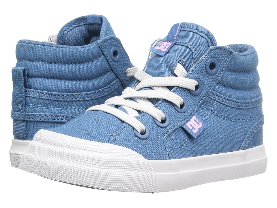 DC Kids - Evan Hi TX (Toddler) (Blue/White) Girls Shoes
