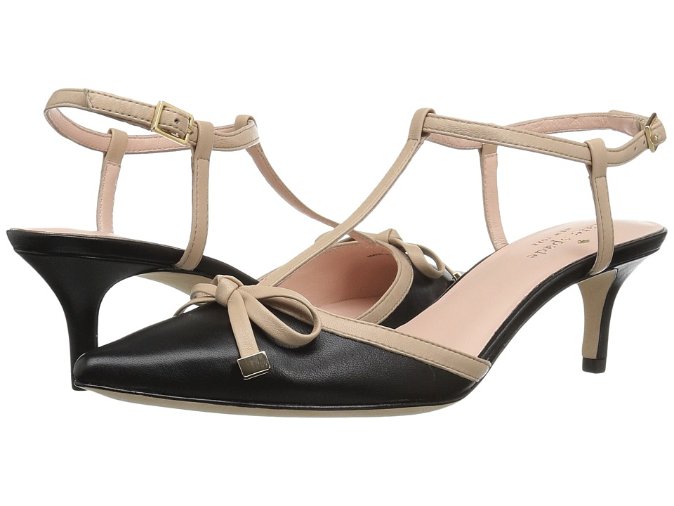 Kate Spade New York - Pomona (Black/Powder Nappa) Women's Shoes