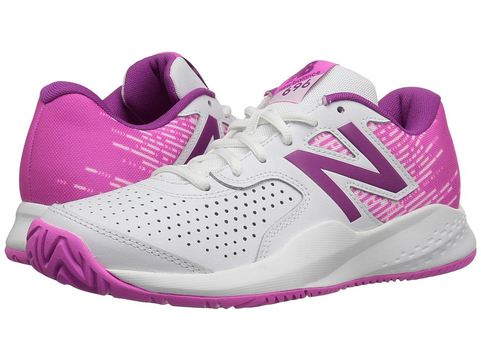 New Balance - WC696v3 (White/Fusion) Women's Tennis Shoes