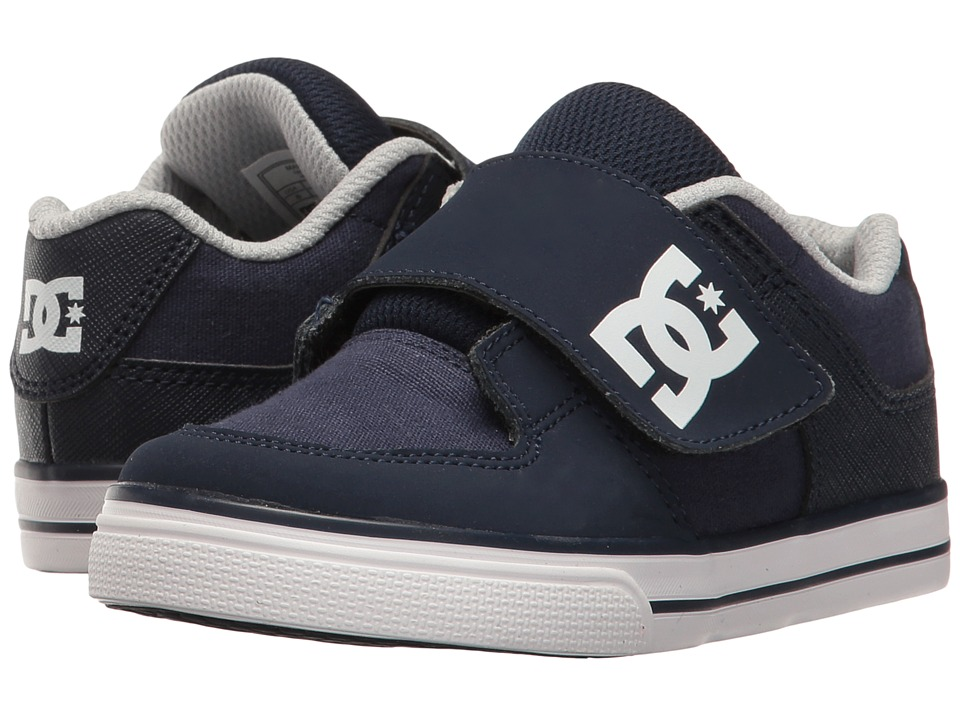 DC Kids Pure V II (Toddler) (Navy) Boys Shoes