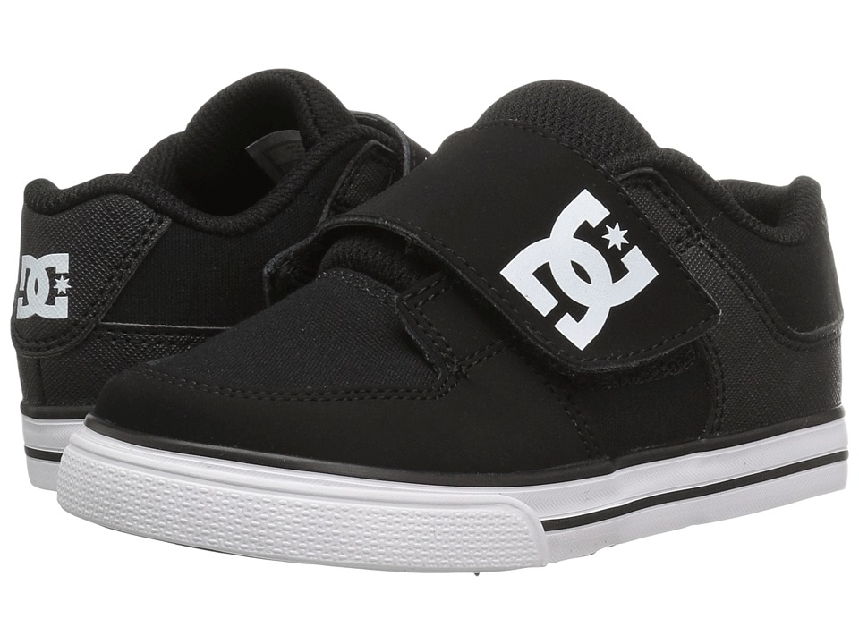 DC Kids - Pure V II (Toddler) (Black/White) Boys Shoes