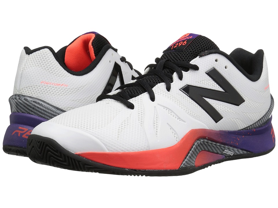 New Balance - MC1296v2 (White/Black Plum) Men's Tennis Shoes