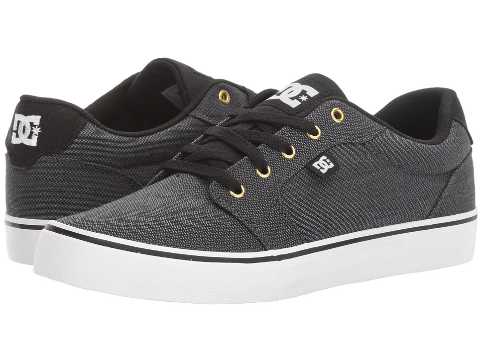 DC - Anvil TX SE (Black/Grey 2) Men's Shoes