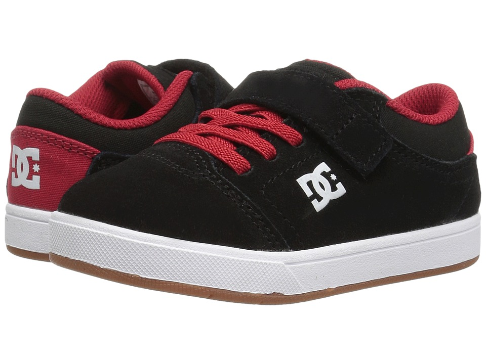 DC Kids - Crisis (Toddler) (Black/Red/White) Boys Shoes