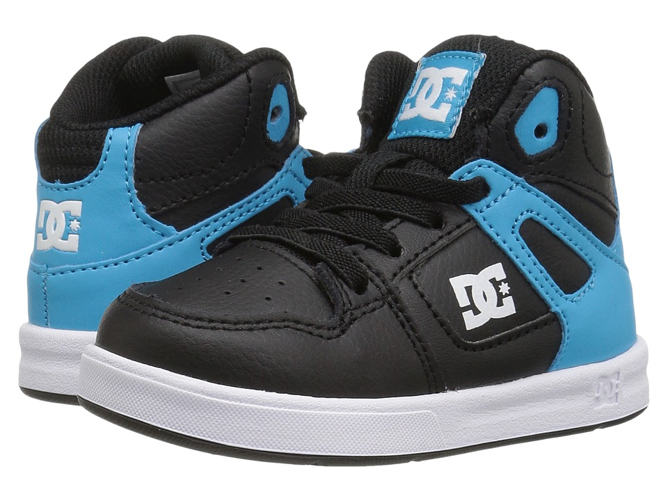 DC Kids - Rebound UL (Toddler) (Black/Blue/White) Boys Shoes