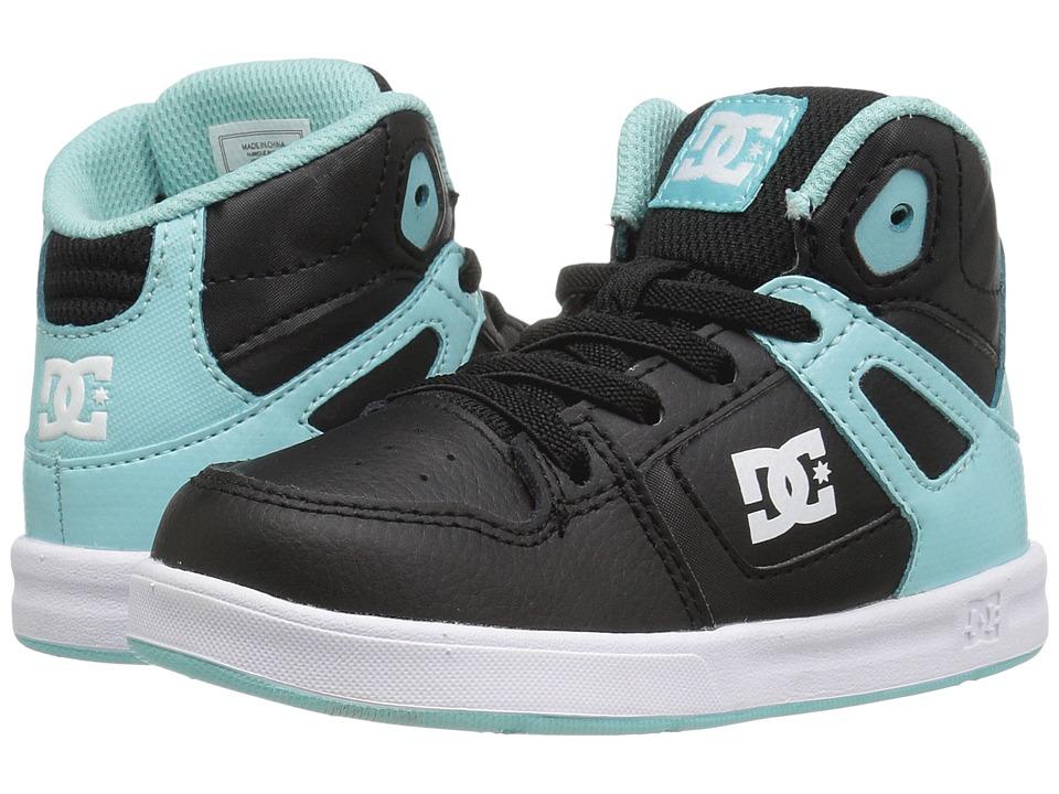 DC Kids - Rebound UL (Toddler) (Black/Aqua) Boys Shoes