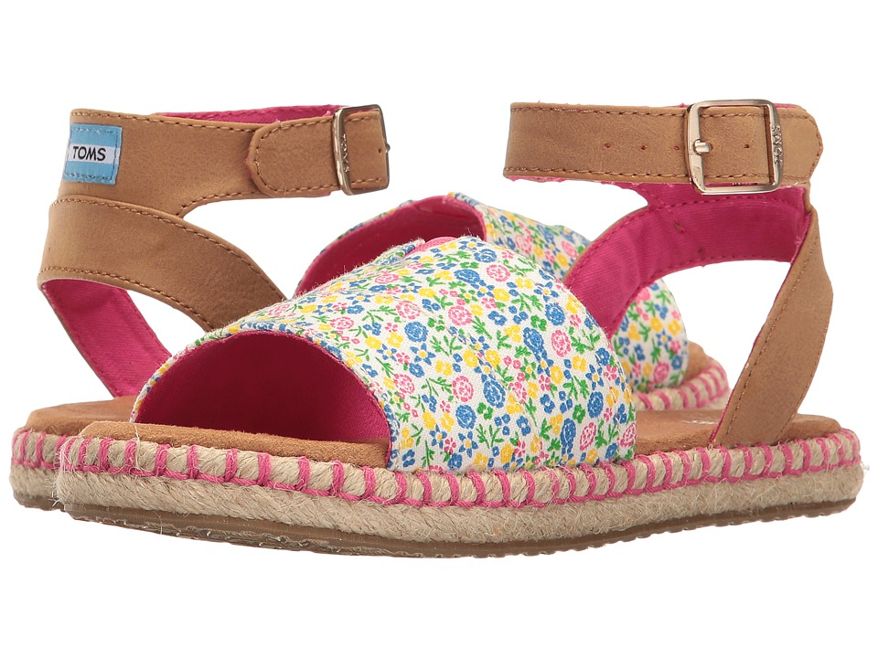 TOMS Kids - Malea Sandals (Little Kid/Big Kid) (Fuchsia Multi Floral) Girls Shoes