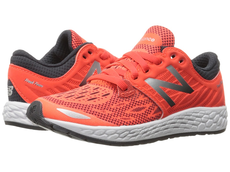 New Balance Kids Fresh Foam Zante v3 (Big Kid) (Orange/Grey) Boys Shoes