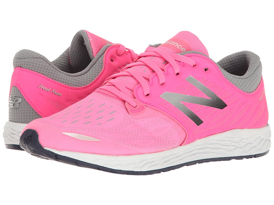 New Balance Kids Fresh Foam Zante v3 (Big Kid) (Pink/Grey) Girls Shoes