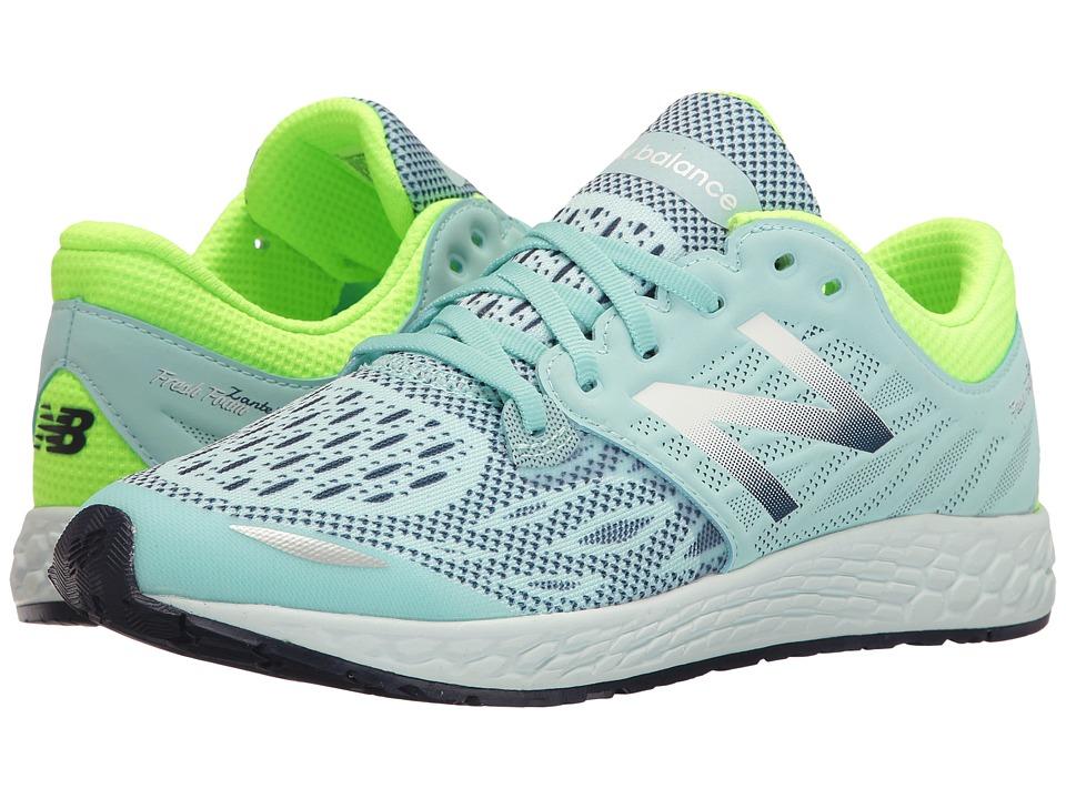 New Balance Kids Fresh Foam Zante v3 (Big Kid) (Green/Blue) Girls Shoes