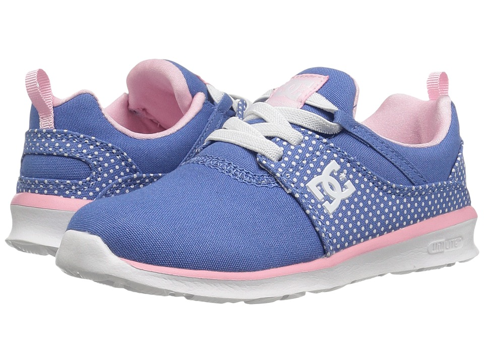 DC Kids - Heathrow SP (Toddler) (Blue/White Print) Girls Shoes