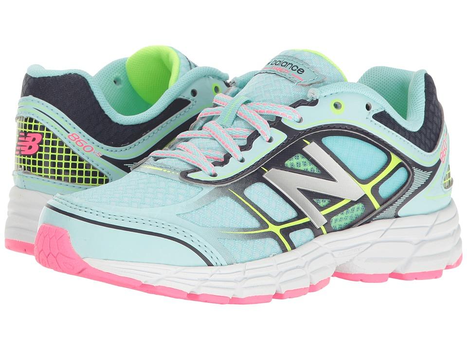 New Balance Kids KJ860v5 (Little Kid/Big Kid) (Blue/Pink) Girls Shoes
