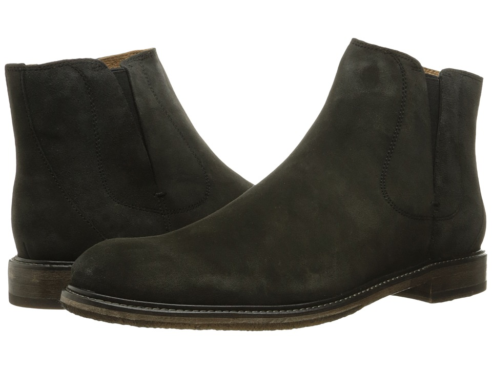 John Varvatos - Sid Crepe Chelsea (Charcoal) Men's Pull-on Boots