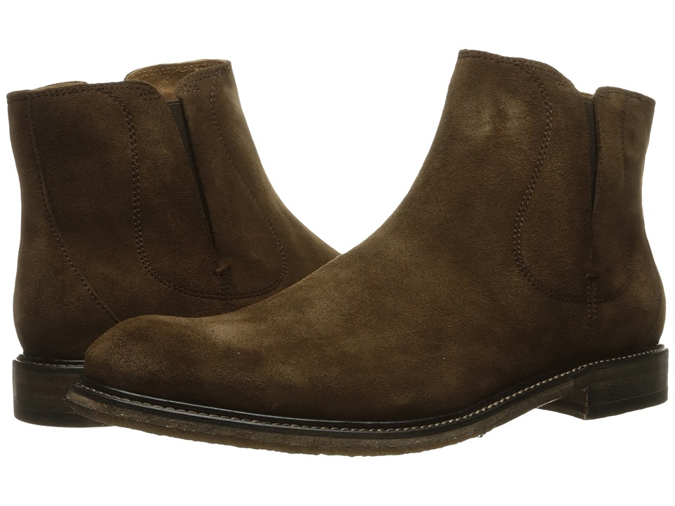 John Varvatos - Sid Crepe Chelsea (Antique Brown) Men's Pull-on Boots