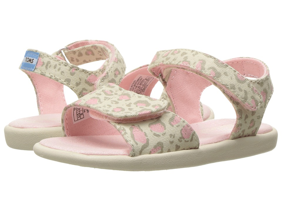 TOMS Kids - Strappy Sandals (Toddler/Little Kid/Big Kids) (Pale Pink Bob Cat) Girls Shoes