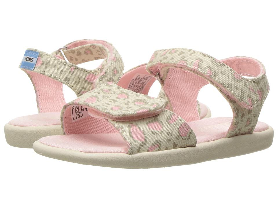 TOMS Kids - Strappy Sandals (Toddler/Little Kid/Big Kids) (Pale Pink Bob Cat) Girls Shoes