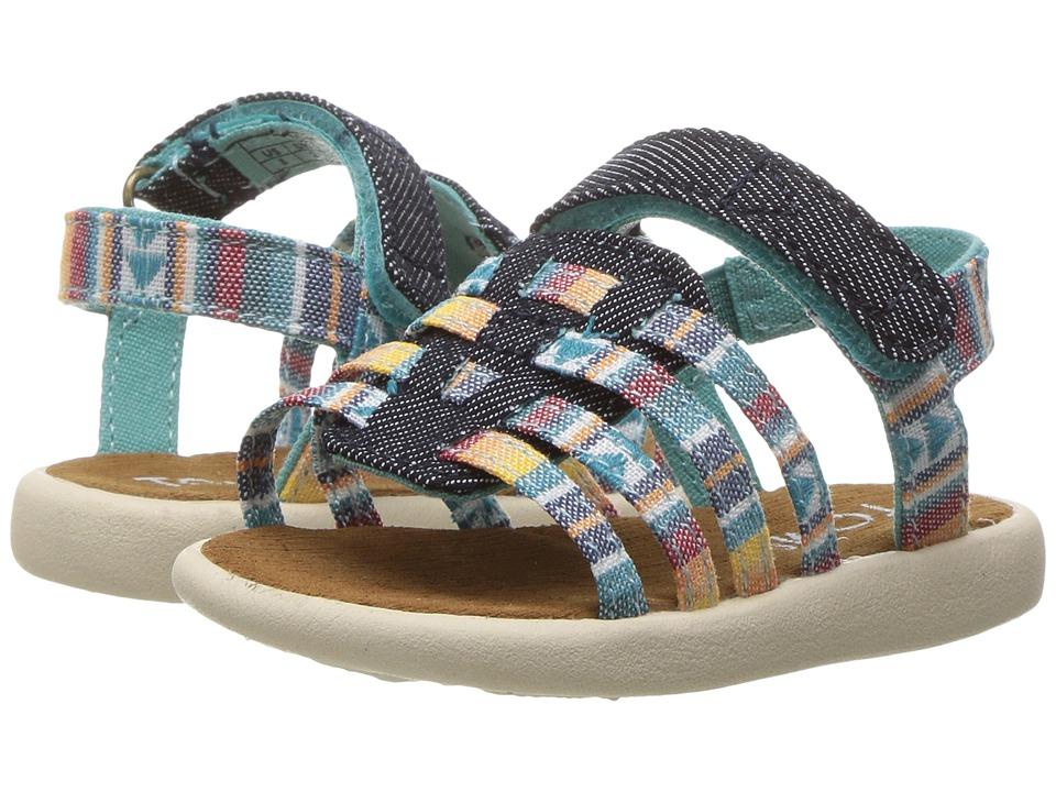 TOMS Kids - Huarache Sandals (Infant/Toddler/Little Kid) (Multi Blanket Stripe) Girls Shoes