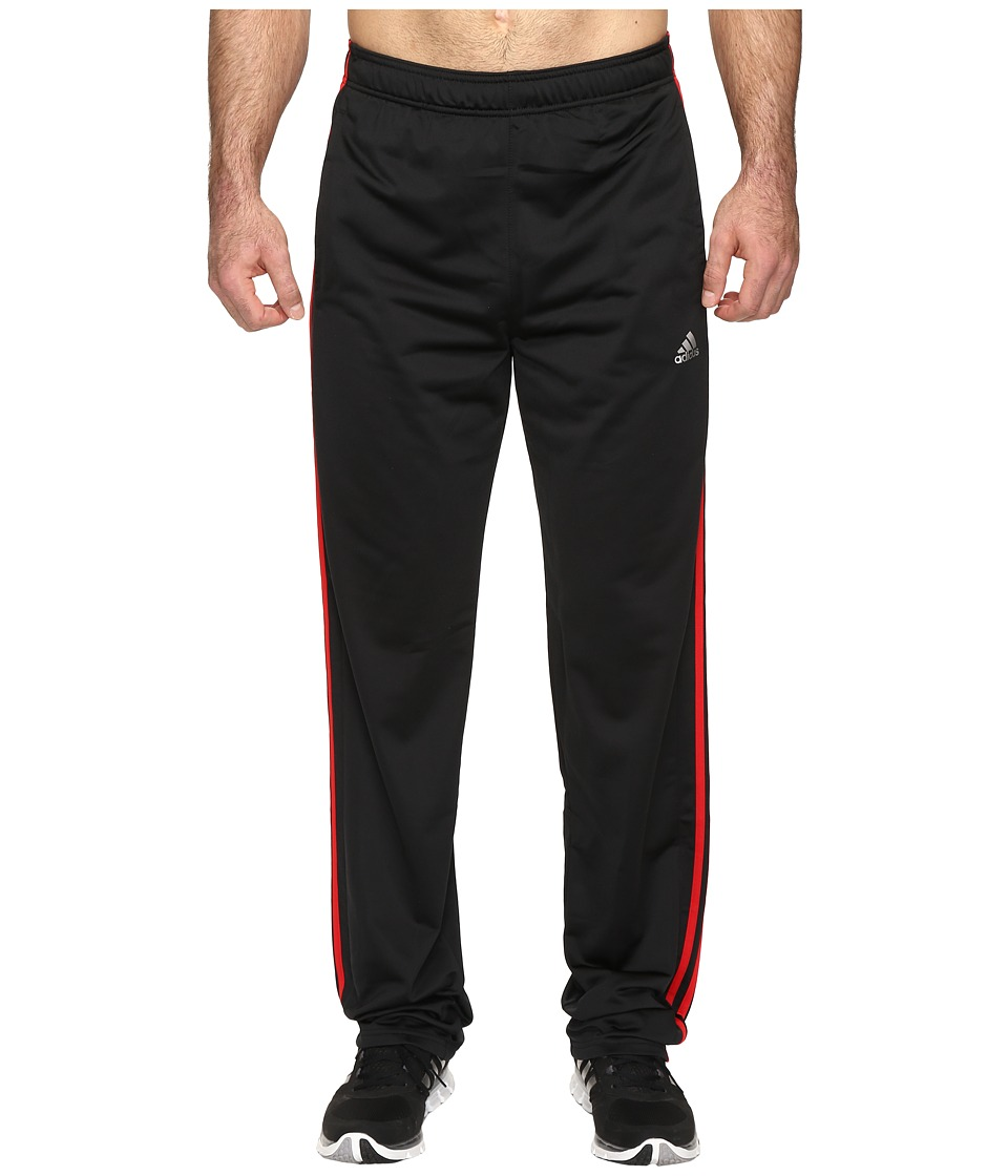 adidas - Essential Track Pants - Big Tall (Black/Scarlet) Men's Casual Pants
