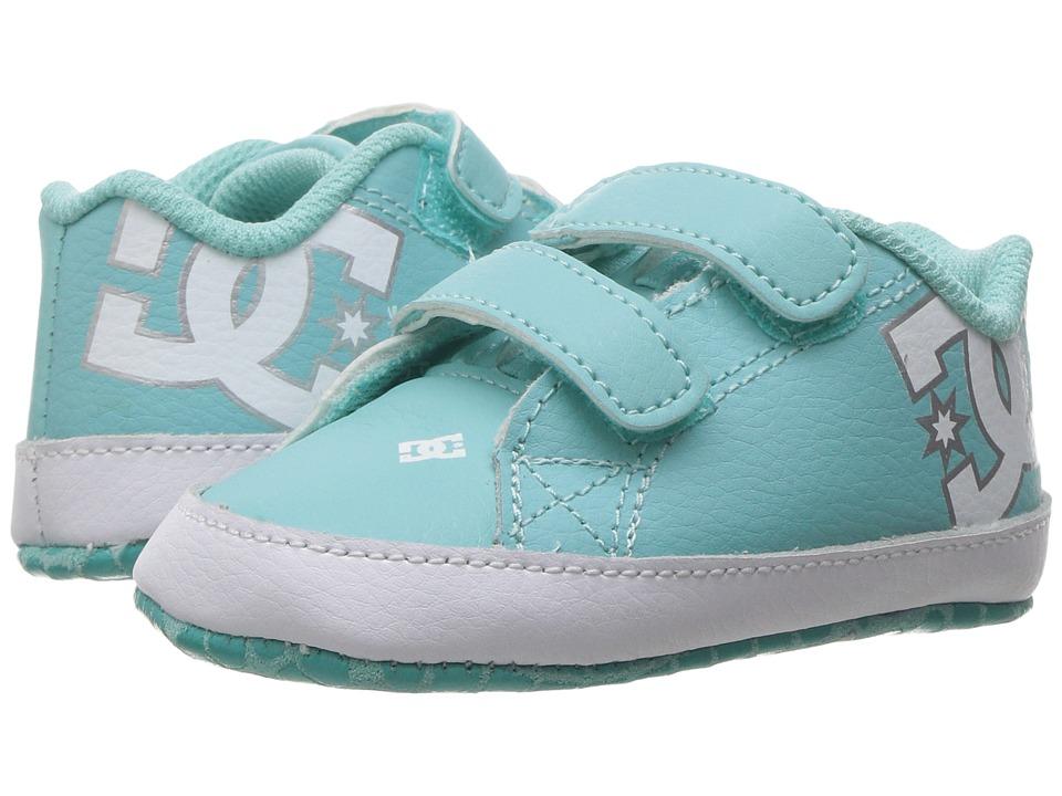 DC Kids - Court Graffik (Infant/Toddler) (Turquoise) Kids Shoes