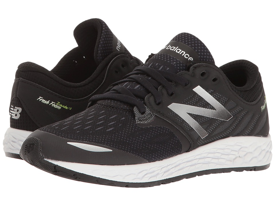 New Balance Kids - Fresh Foam Zante v3 (Little Kid) (Black/Black) Boys Shoes