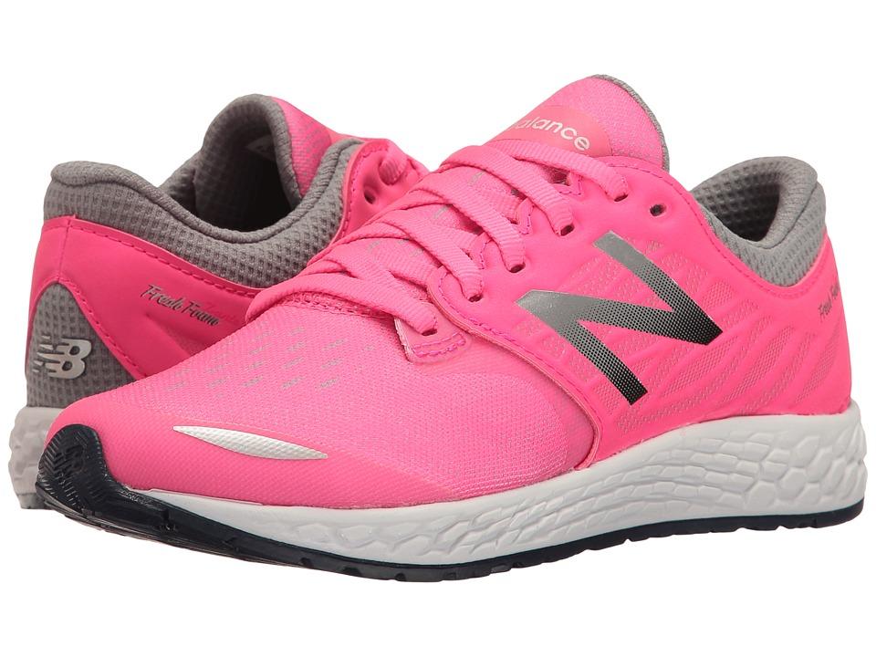 New Balance Kids Fresh Foam Zante v3 (Little Kid) (Pink/Grey) Girls Shoes