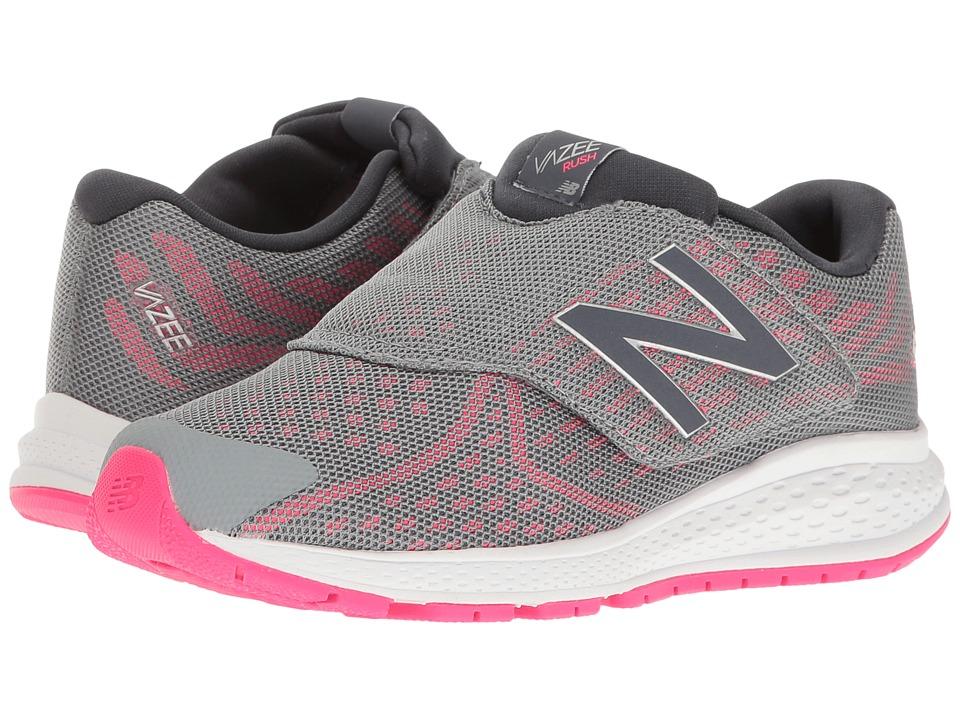 New Balance Kids - Vazee Rush v2 A/C (Little Kid) (Grey/Pink) Girls Shoes