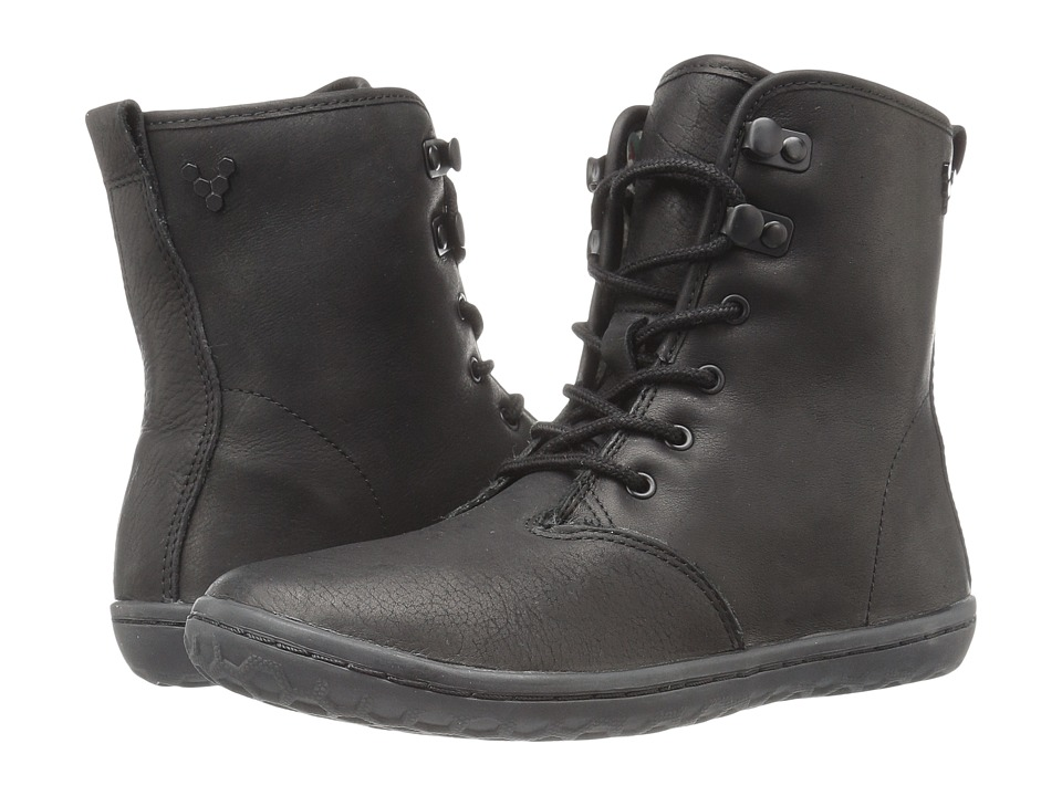 Vivobarefoot - Gobi Hi-Top (Black/Hyde Leather) Women's Lace-up Boots