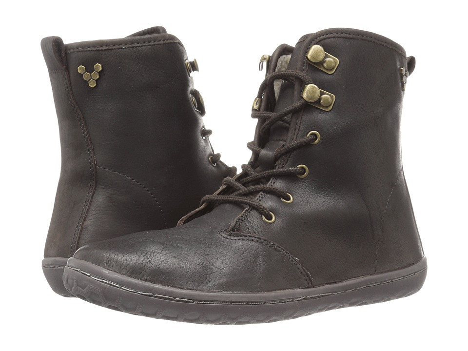 Vivobarefoot - Gobi Hi-Top (Dark Brown/Hyde Leather) Women's Lace-up Boots