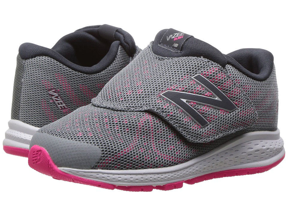 New Balance Kids Vazee Rush v2 (Infant/Toddler) (Grey/Pink) Girls Shoes