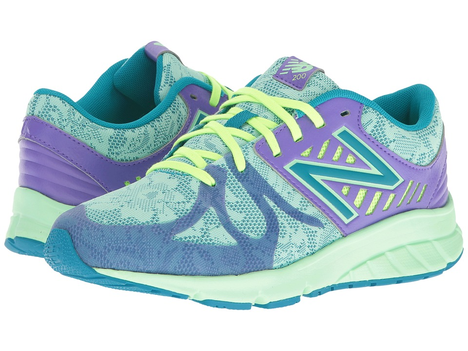 New Balance Kids 200V1 (Big Kid) (Purple/Green) Girls Shoes