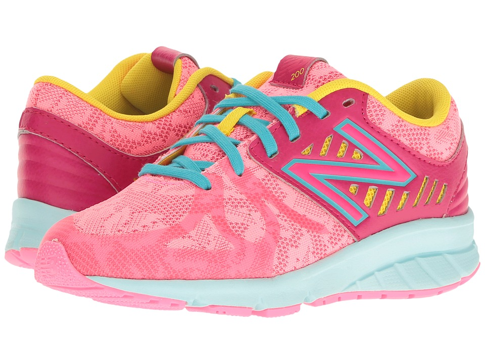 New Balance Kids - 200V1 (Big Kid) (Pink/Blue) Girls Shoes