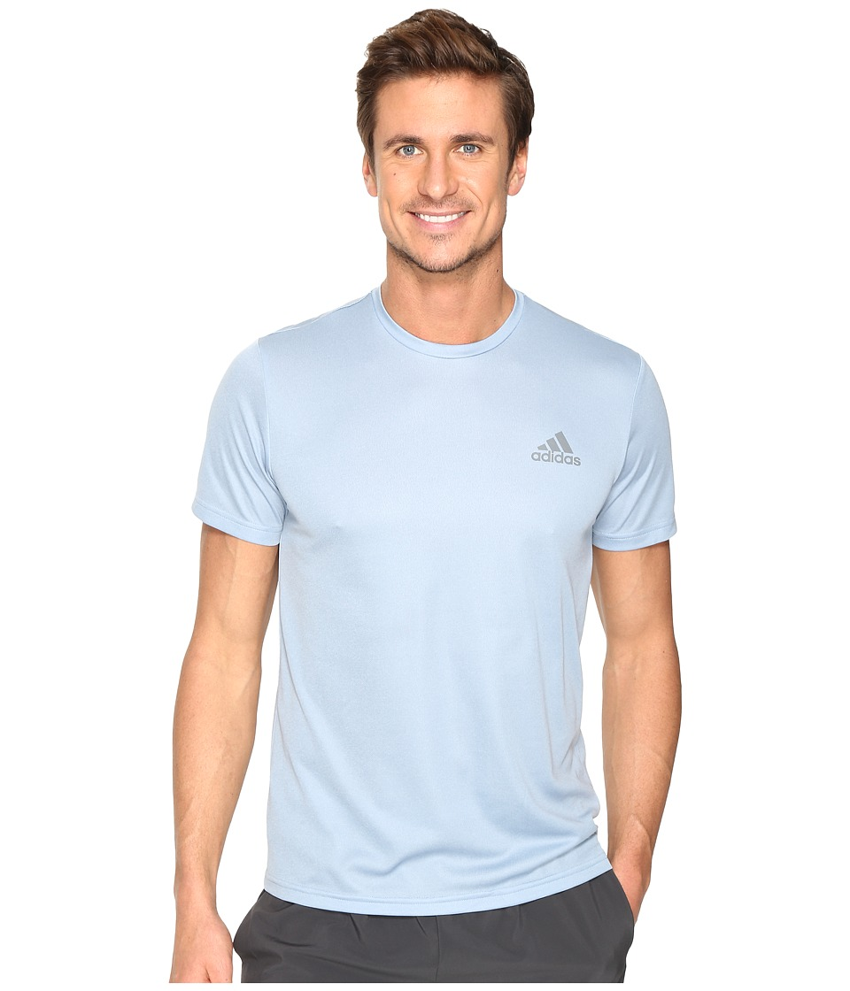 adidas Essential Tech Crew Tee (Tactile Blue S17/Easy Blue S17) Men