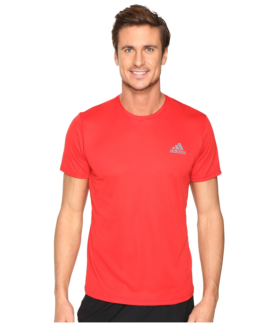 adidas Essential Tech Crew Tee (Scarlet/Core Red S17) Men