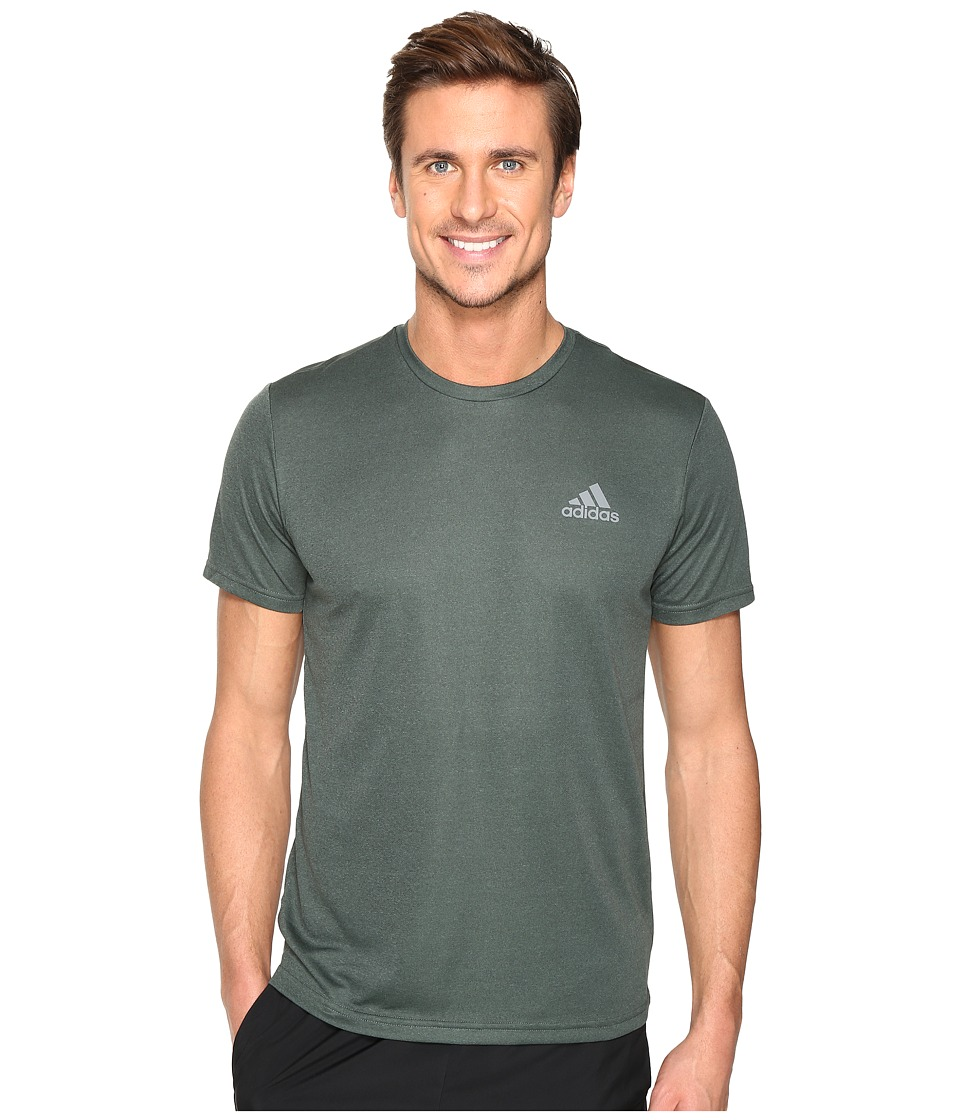 adidas - Essential Tech Crew Tee (Utility Ivy F16/Trace Green S17) Men's T Shirt