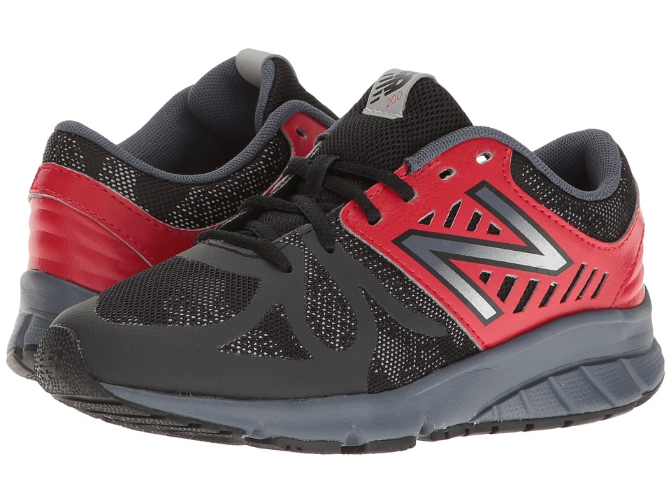 New Balance Kids - KJ200v1 (Big Kid) (Black/Red) Boys Shoes