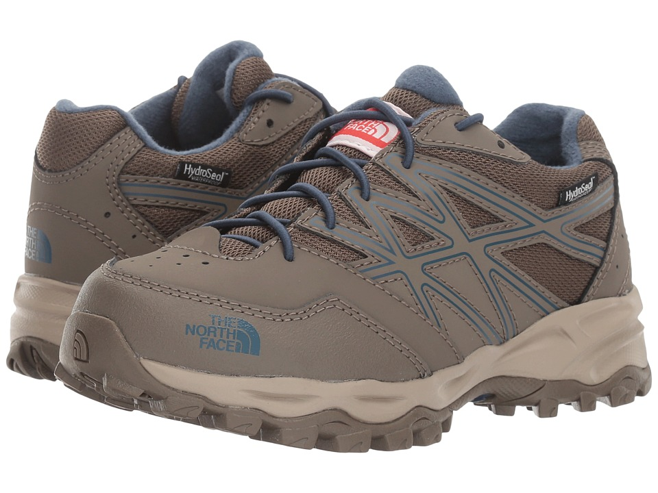 The North Face Kids - Jr Hedgehog Hiker WP (Little Kid/Big Kid) (Falcon Brown/Shady Blue) Boys Shoes