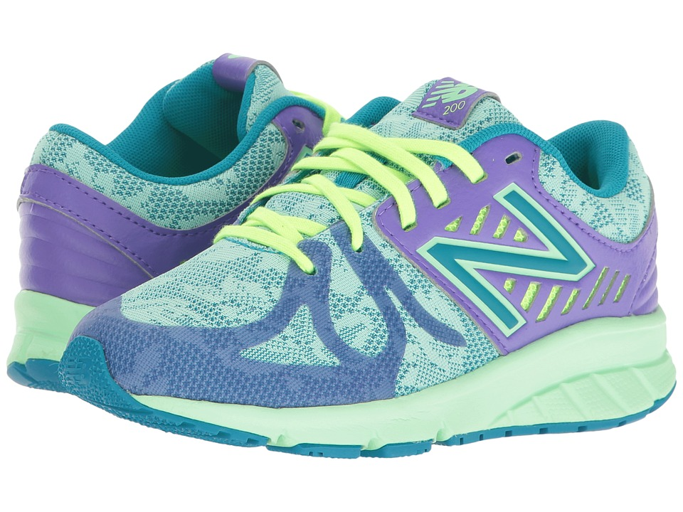New Balance Kids - 200V1 (Little Kid) (Purple/Green) Girls Shoes