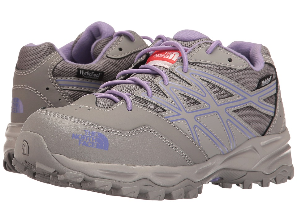The North Face Kids - Jr Hedgehog Hiker WP (Little Kid/Big Kid) (Q-Silver Grey/Paisley Purple) Girls Shoes