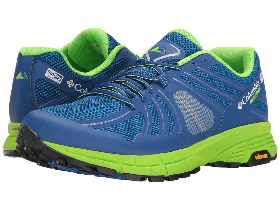 Columbia - Mojave Trail Outdry (Super Blue/White) Men's Running Shoes
