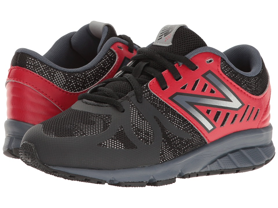 New Balance Kids KJ200v1 (Little Kid) (Black/Red) Boys Shoes