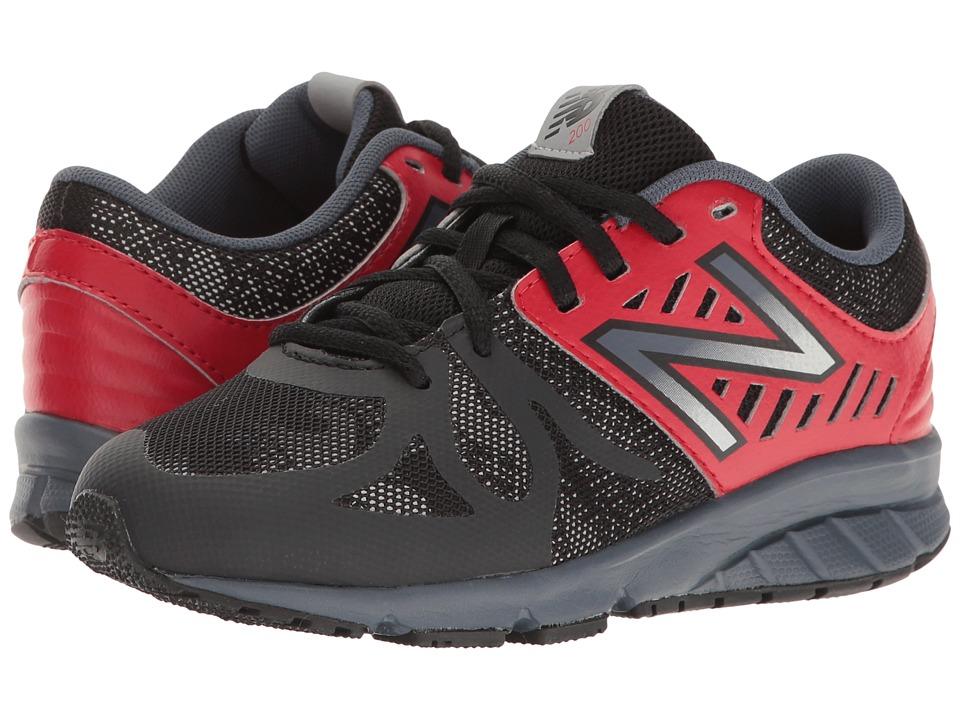 New Balance Kids - KJ200v1 (Little Kid) (Black/Red) Boys Shoes