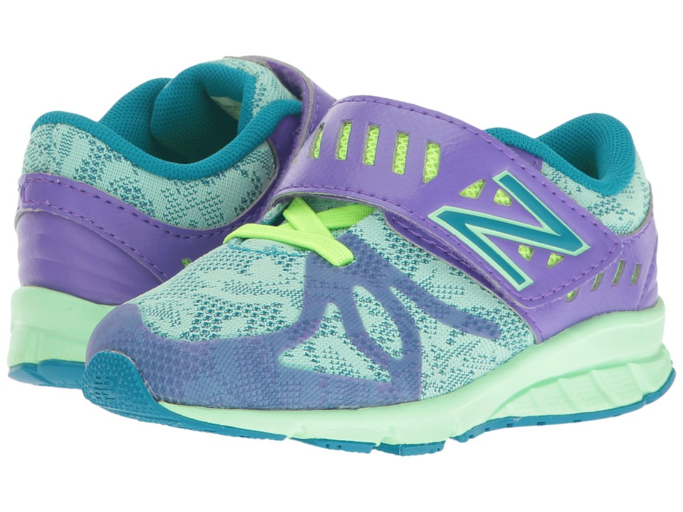 New Balance Kids - KV200v1 (Little Kid) (Purple/Green) Girls Shoes
