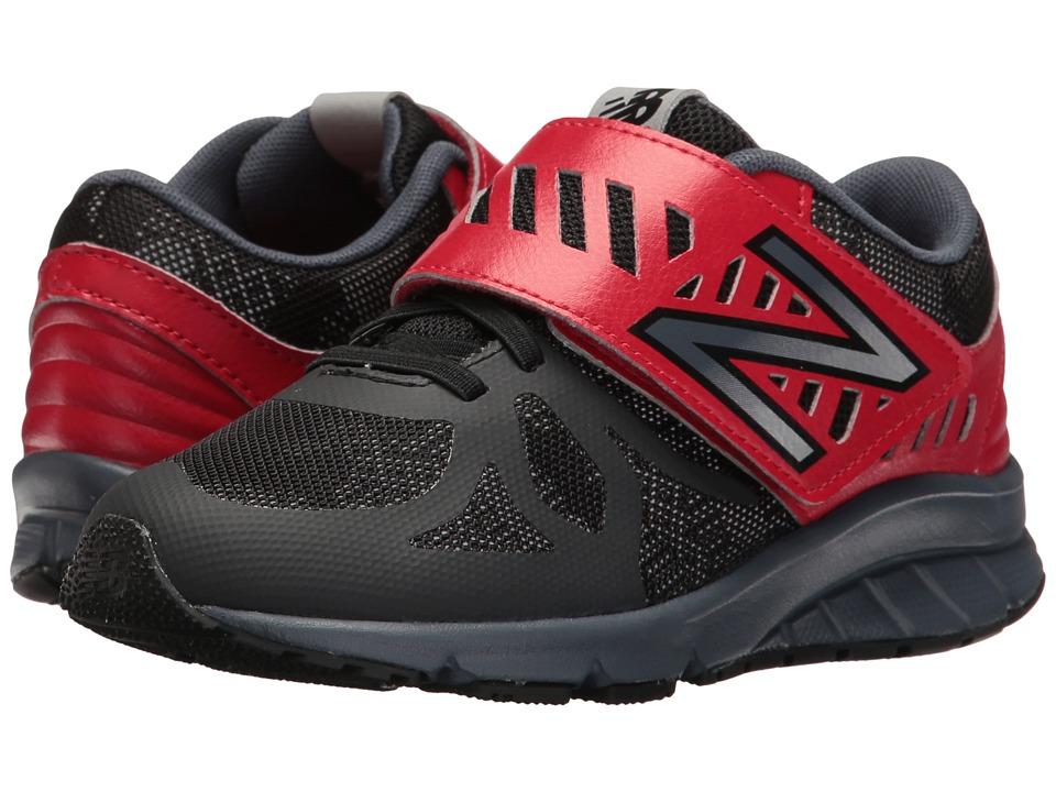 New Balance Kids - KV200v1 (Little Kid) (Black/Red) Boys Shoes