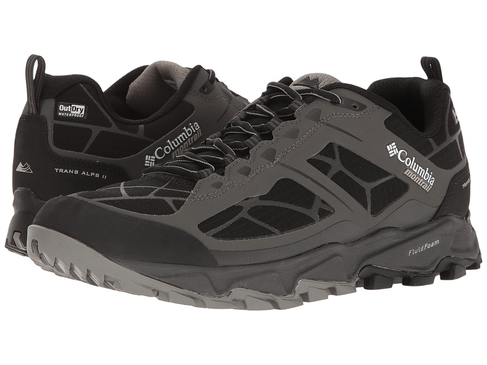 Columbia - Trans Alps II Outdry (Dark Grey/Black) Men's Running Shoes