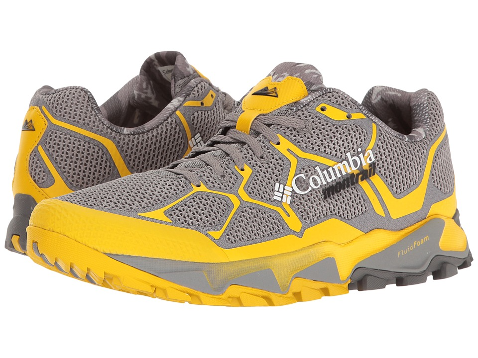 Columbia - Trans Alps F.K.T (Light Grey/Electron Yellow) Men's Running Shoes
