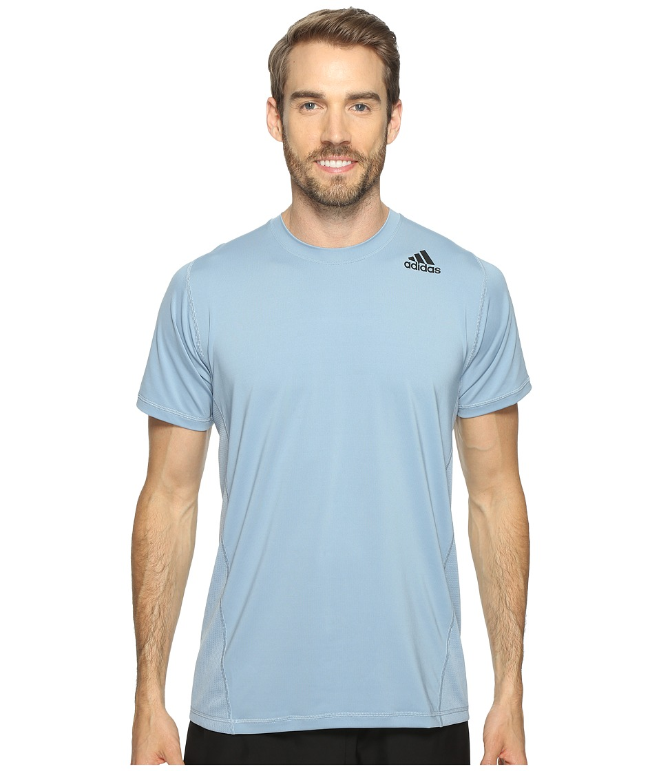 adidas - Utility Tech Short Sleeve Tee (Tactile Blue S17) Men's Short Sleeve Pullover