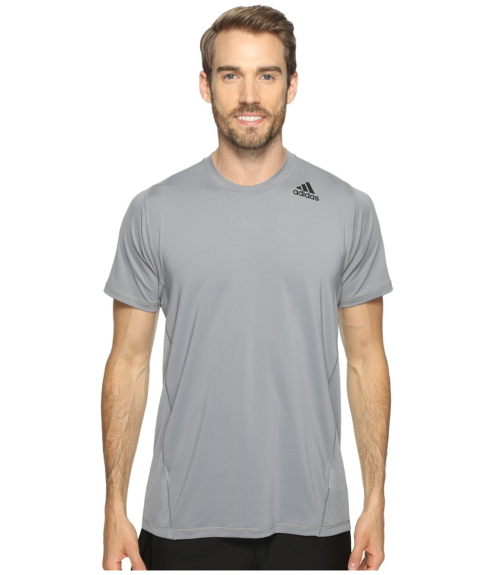 adidas - Utility Tech Short Sleeve Tee (Grey) Men's Short Sleeve Pullover