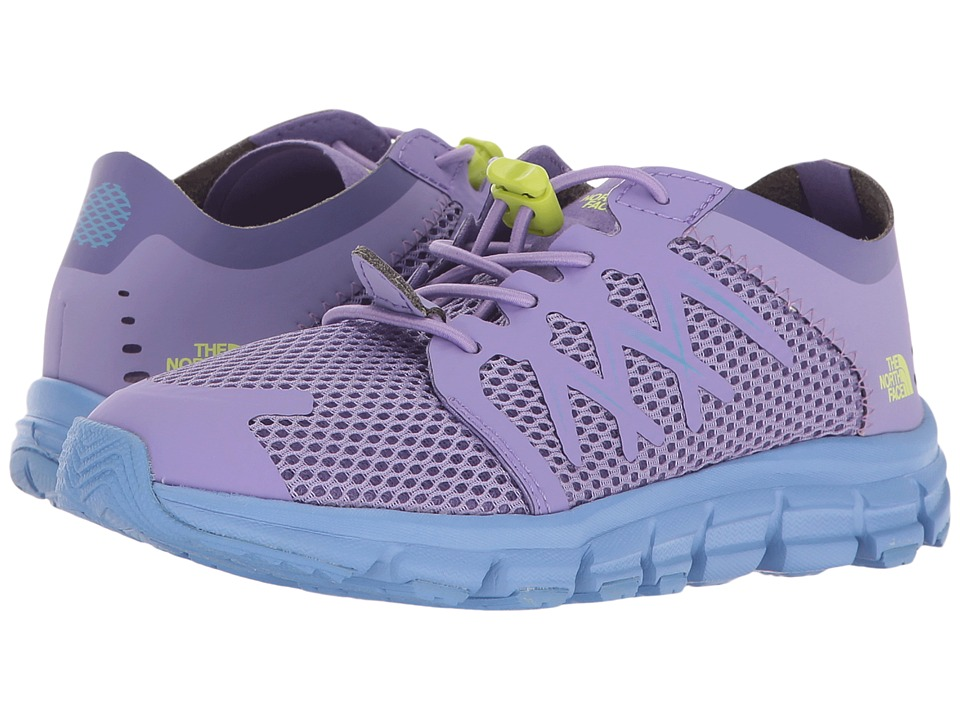 The North Face Kids - Litewave Flow (Toddler/Little Kid/Big Kid) (Paisley Purple/Rave Green) Girls Shoes