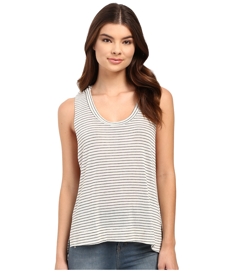 Culture Phit Matilde Sleeveless Striped Hoodie (Taupe) Women