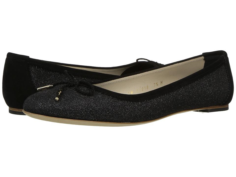 Salvatore Ferragamo - Matte Glitter Ballerina Flat (Nero Matte Glitter) Women's Flat Shoes
